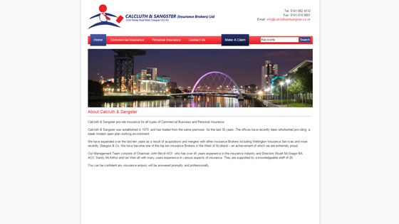 calcluth and sangster glasgow